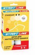 Мячи для настольного тенниса Start Line Standart 2* белые 23-122